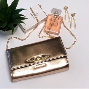 Handbags - Rose Gold Clutch
